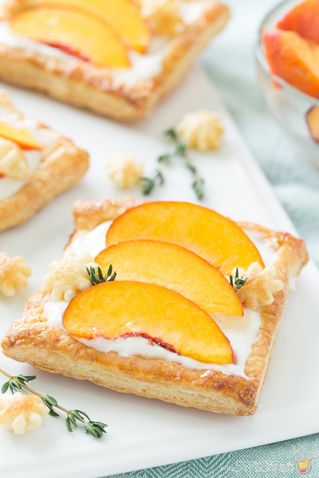 Fresh Peach Tart from Cooking on the Front Burner