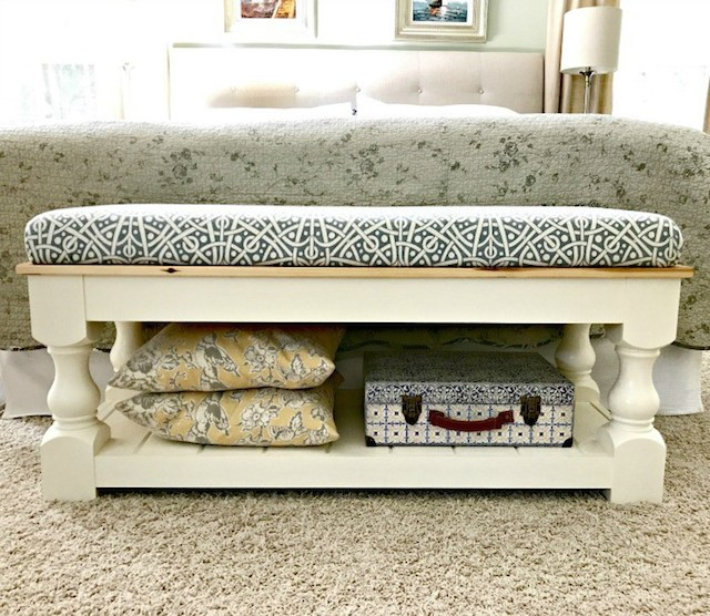 DIY Upholstered Bench from  Abbotts at Home