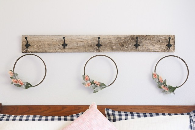 DIY Wall Mounted Hook Rack from  Fresh Squeezed Life