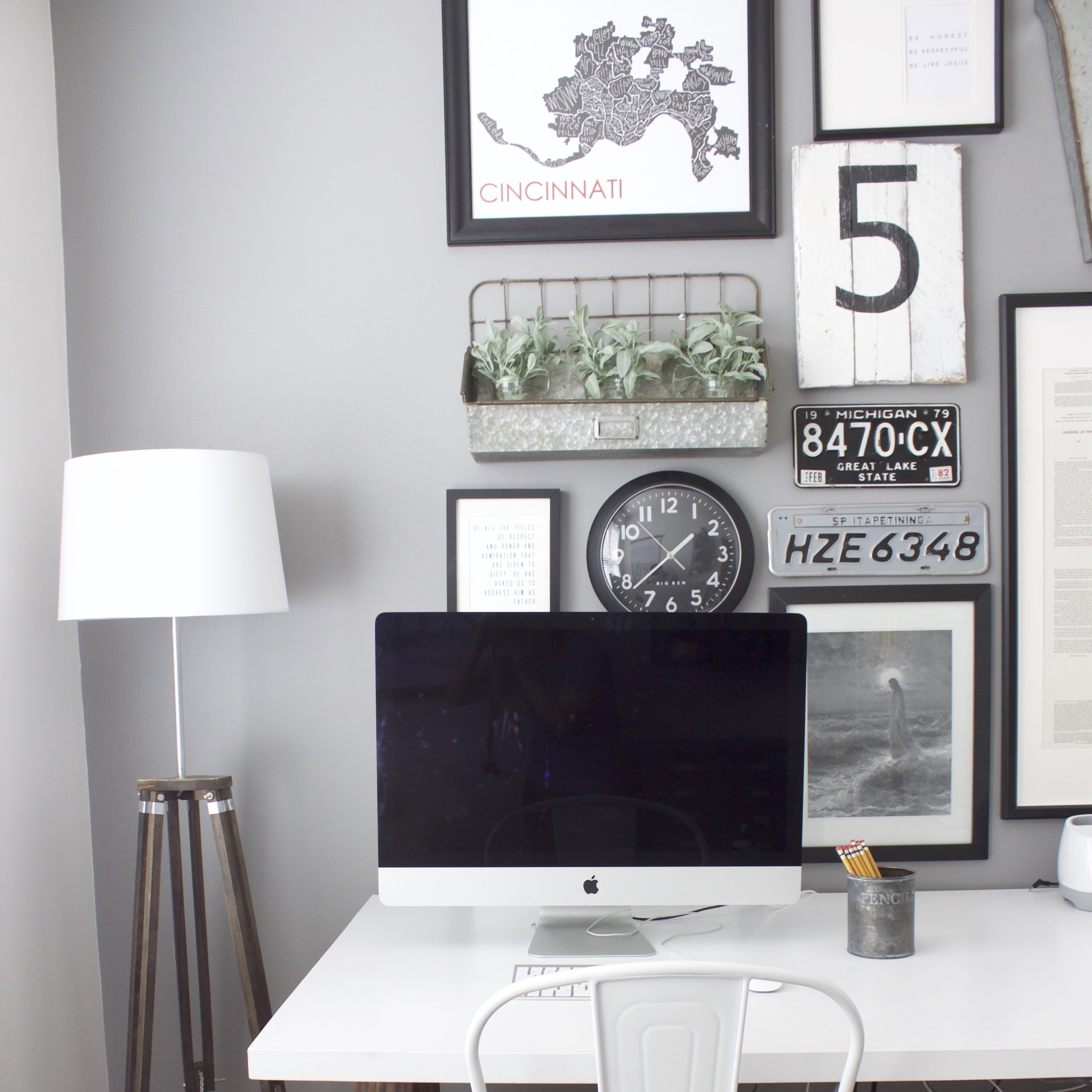 Creating A Family Home Office — Colors and Craft
