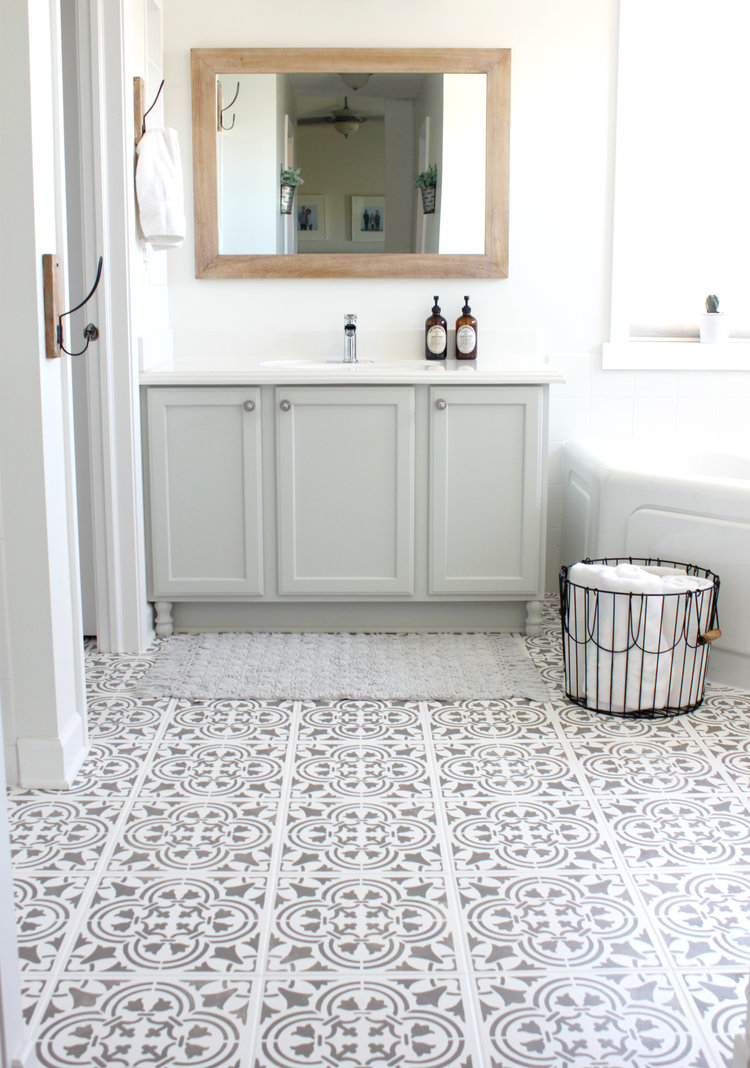 Painting Your Tile Floor — Colors and Craft