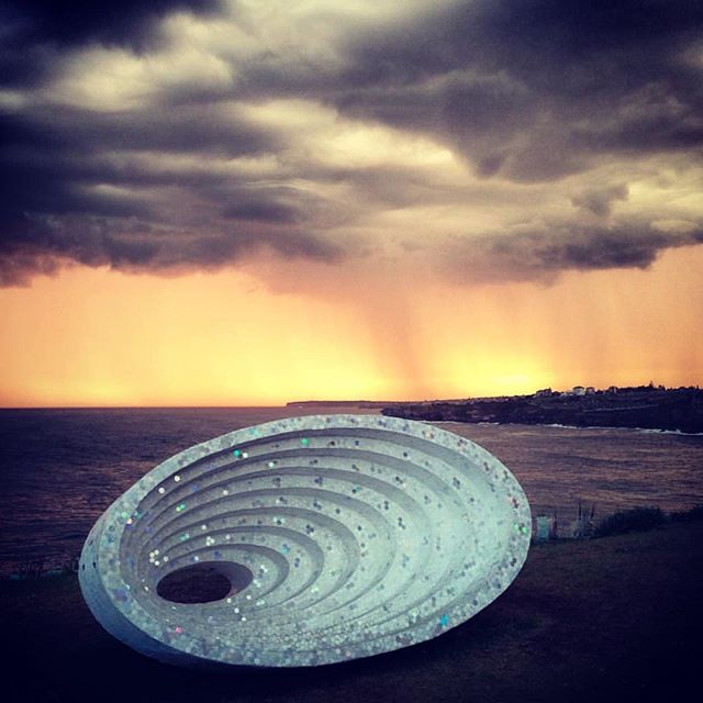 Farewell #sculpturebythesea2015 An amazing event! Hope to see you next year @claytonblake.art ( great pic @chrisjamesandrade )
