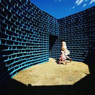 "#flashback #2013 @claytonblake.art ""Pallet Pavilion"" #sculpturebythesea #bondi"