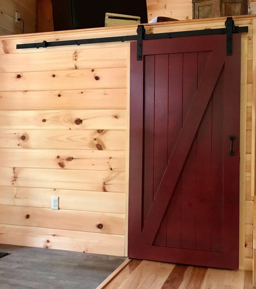 Red Sliding Door