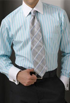 Stripe Shirt w/white collar/cuffs