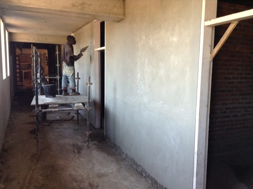 Plastering Hallways - April 2016