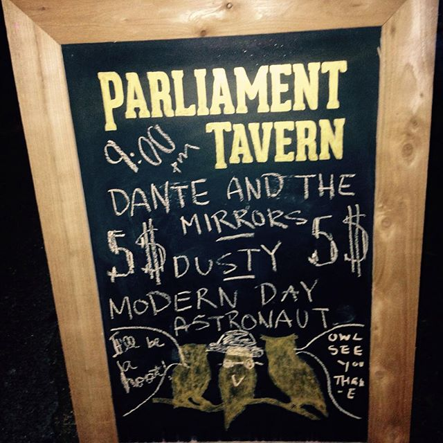 Such a fun night playing with Dusty and Modern Day Astronaut. Thanks to everyone who came out :) #parliamenttavern #folkmusic