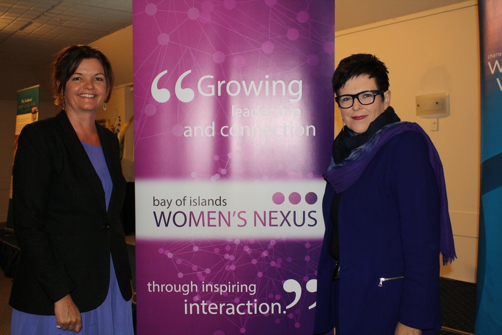Rt. Hon. Dame Jenny Shipley and myself at the launch of Bay of Islands Women's Nexus.