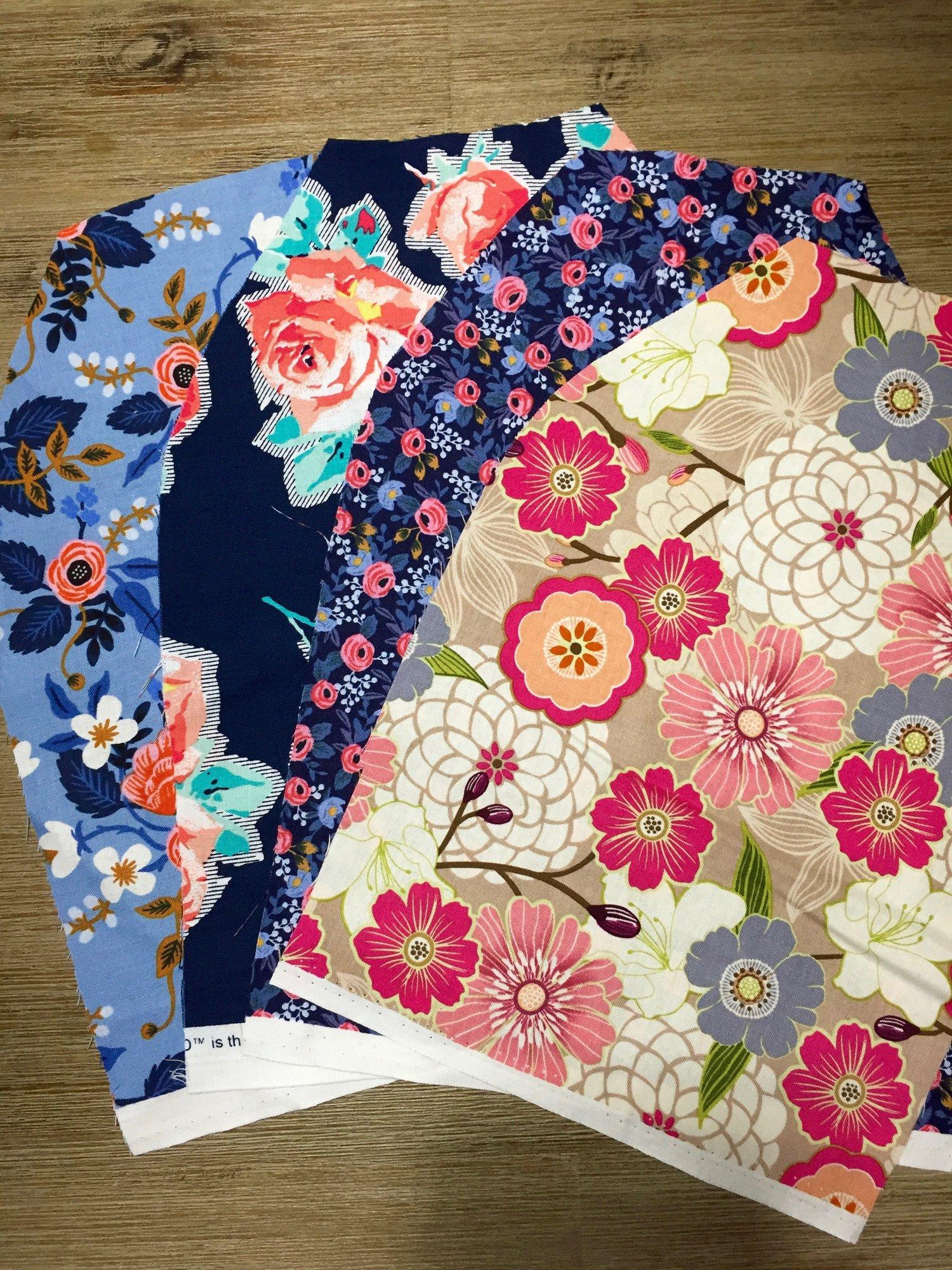 beautiful floral scrap pack 40 piece fabric scrap pack of flower