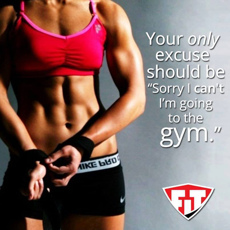 Should this really be your excuse? Ditching quality time with friends to get abs? (Source:  Strong is the new skinny )