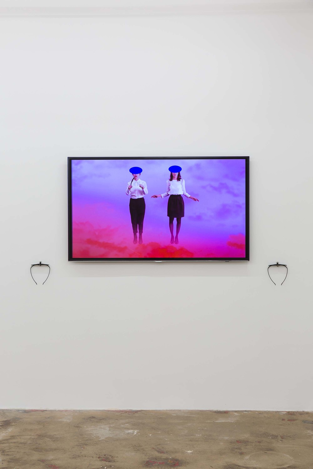 Cecile B. Evans, The Brightness, 2013, installation view with 3D glasses