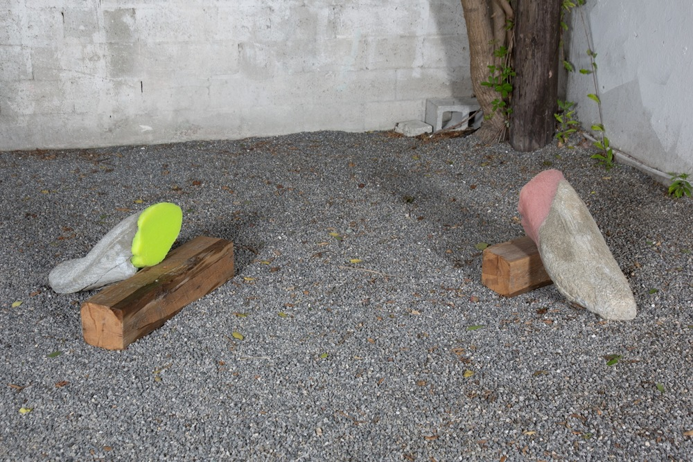 Martha Friedman, Licked, 2012, courtyard installation