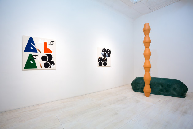 Math Bass,  Lies Inside , installation view  Overduin & Co., Los Angeles, 2014