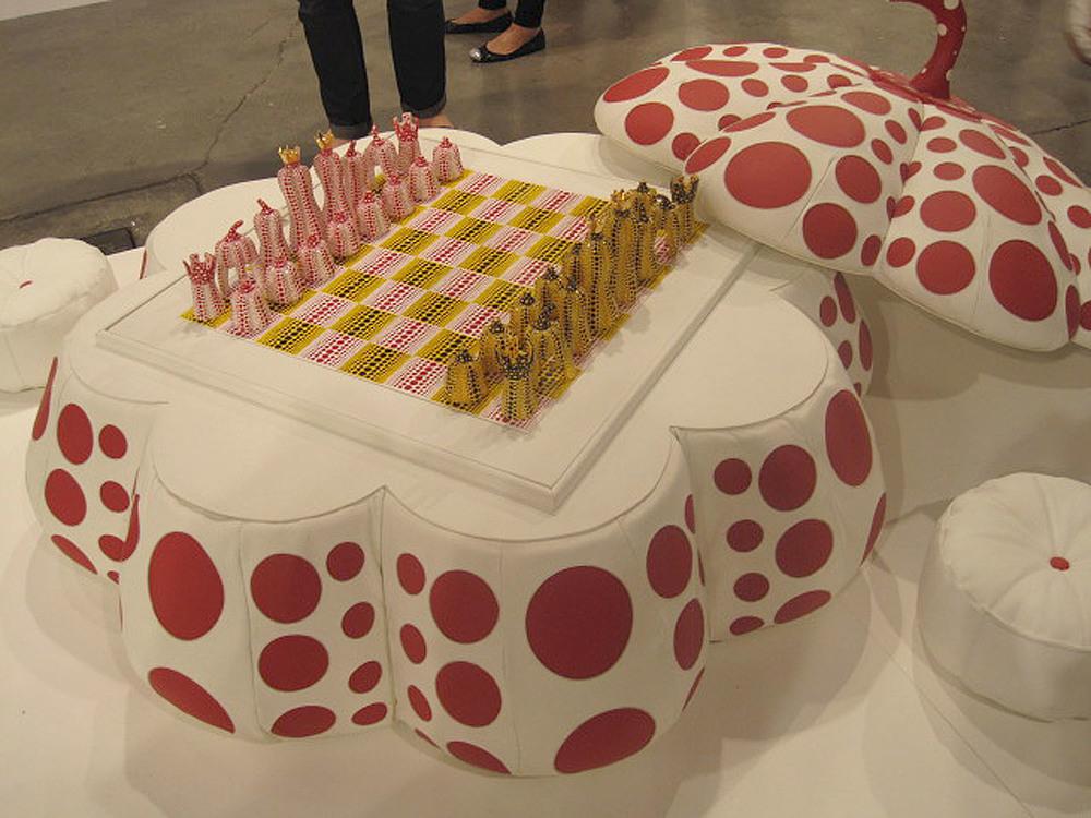 Yayoi Kusama,  Pumpkin Chess Set,  2003