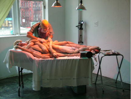 Leigha Mason and Matt Whitley, Surgery Against Real Limbs, 2009 performance documentation