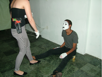 Whitney Vangrin and Shawn Jeffers,  Gun Play , 2009  performance documentation