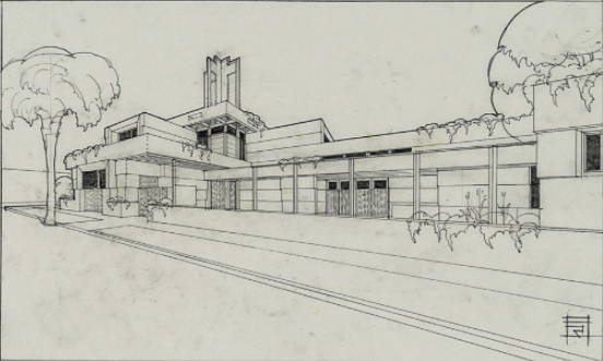 Drawing Courtesy of the Architecture and Design Collection/Art, Design and Architecture Museum/University of California, Santa Barbara