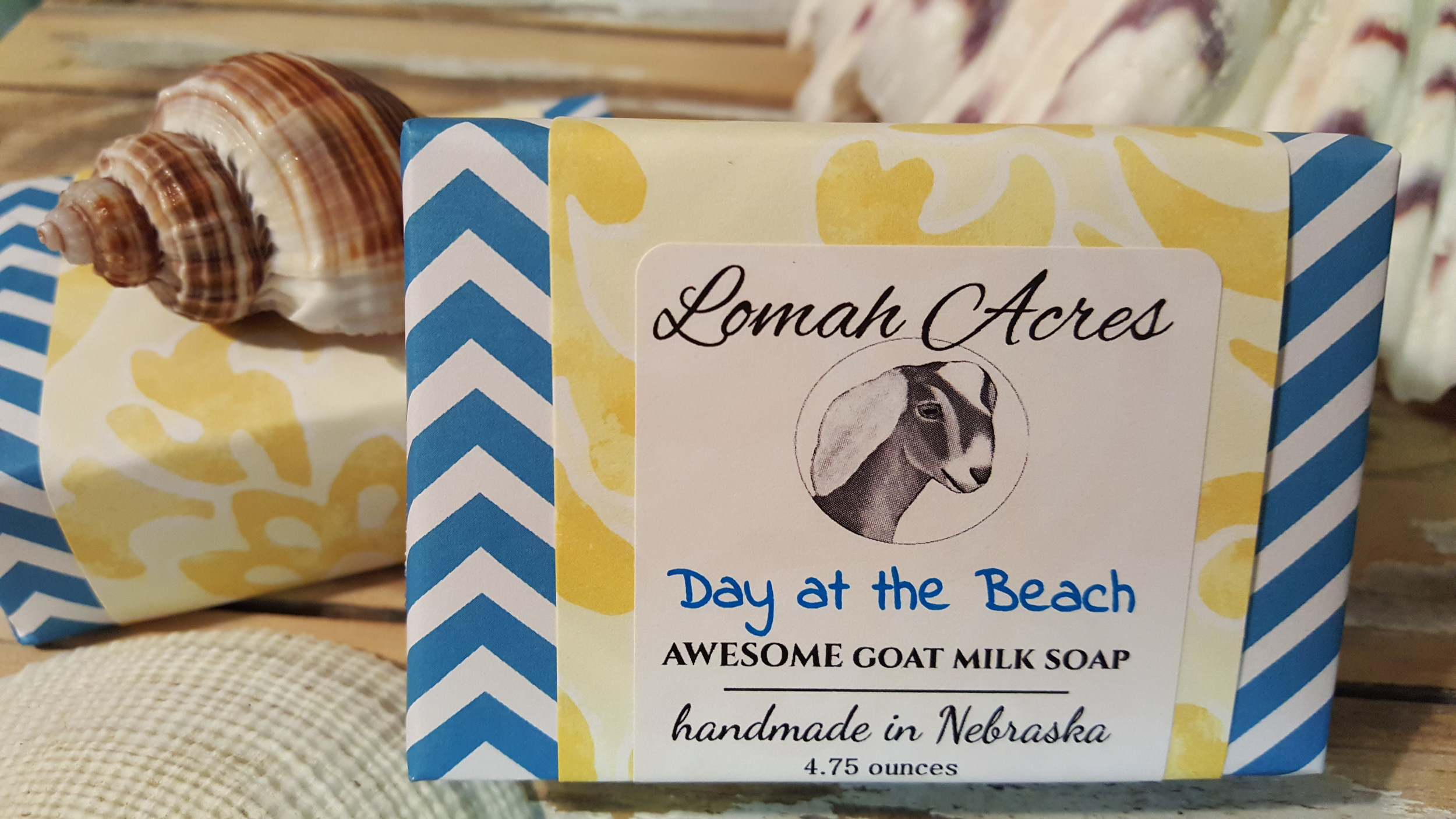 goat milk soap beach wrapped