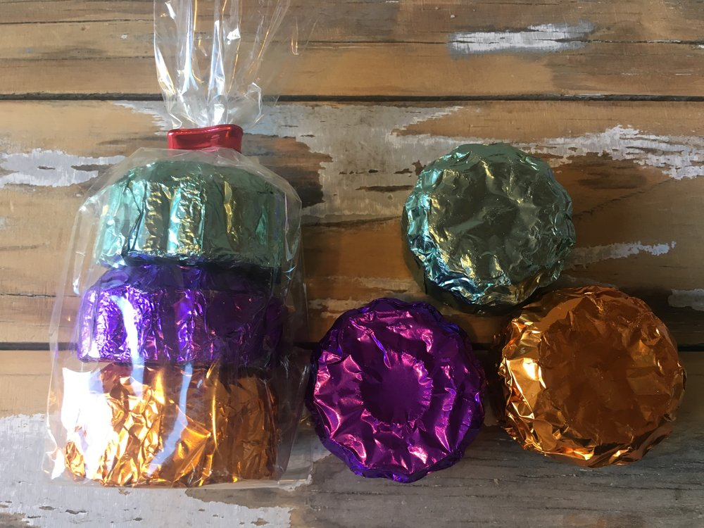 Shower Steamers, 1 time use, Bagged set of 3.  $7.50  Includes Eucalyptus, Lavender, & Citrus