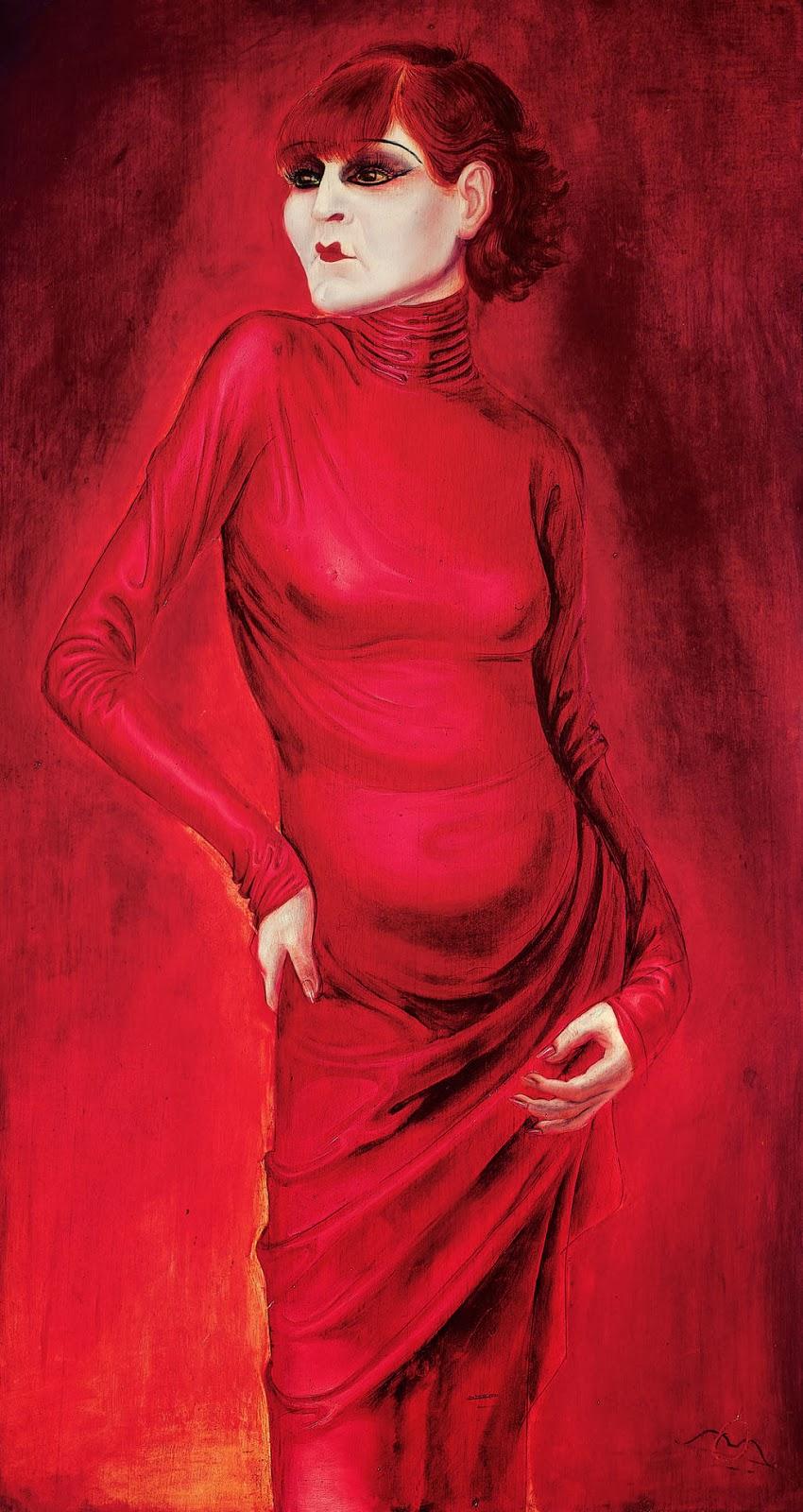 Otto Dix's 1925 portrait of Anita Berber.