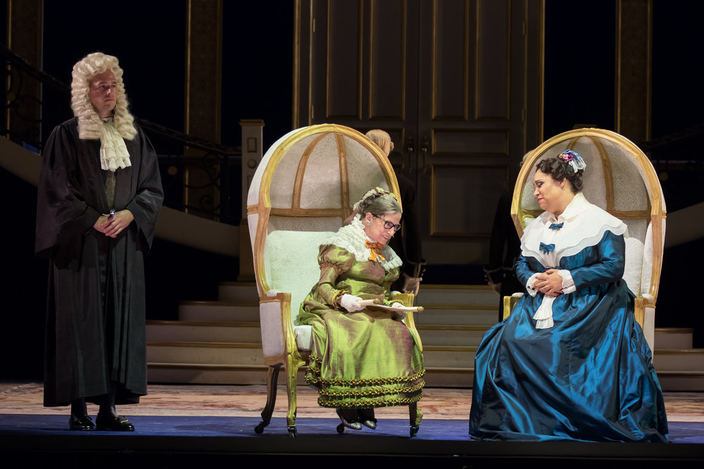 Ruth Bader Ginsburg and Deborah Nansteel in Washington National Opera's The Daughter of the Regiment.