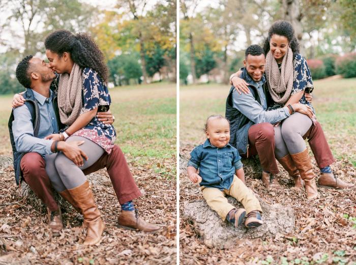 Robinson fall family portraits in Deepdene Park, Atlanta, GA