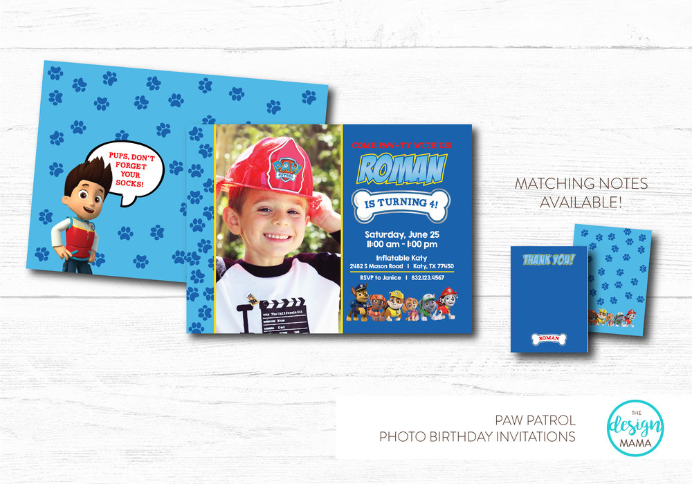 NEW - PAW PATROL INVITATION