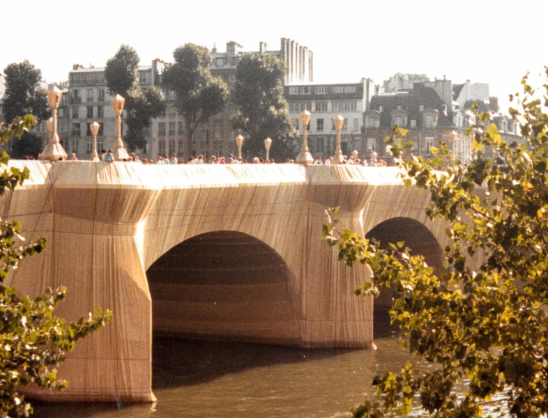 In 1985, Christo and Jeanne-Claude wrapped the Pont-Neuf, the oldest bridge in Paris. The artists' vision for the project was conceived in 1975. It was the last time they had an idea for a wrapping.
