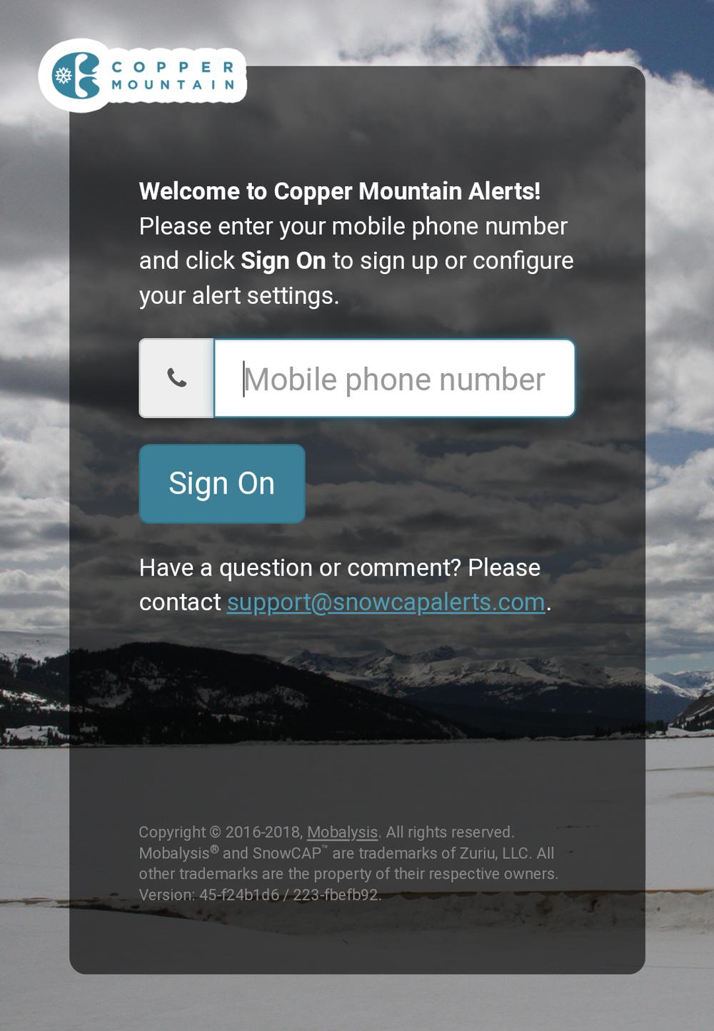 Copper Mountain Powder Alerts