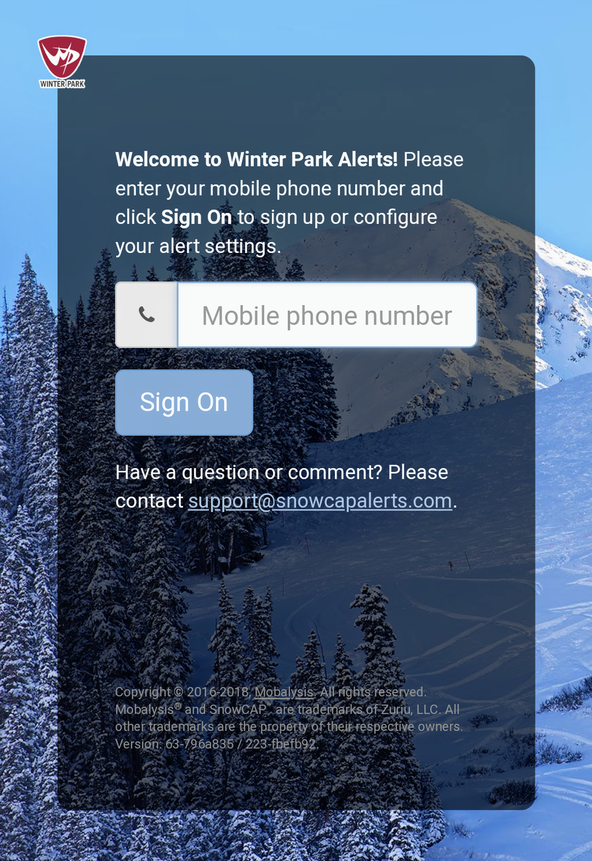 Winter Park Powder Alerts