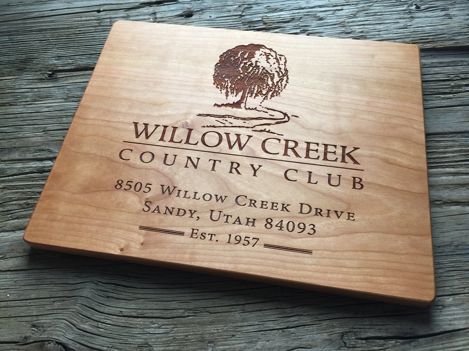 Custom wood engraved business awards corporate gifts from taylor corporatecuttingboard17g reheart Choice Image