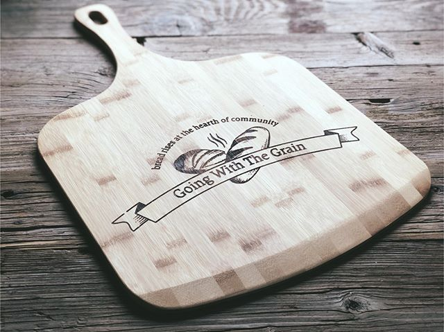 Our bamboo paddles are popular with businesses!  Send us your logo and we can make you a personalized bamboo paddle perfect for pizza, bread, or even a sign.  #bambooproducts #bamboopaddle #pizzapaddle #personalized #addyourlogo #personalizedgift #markit