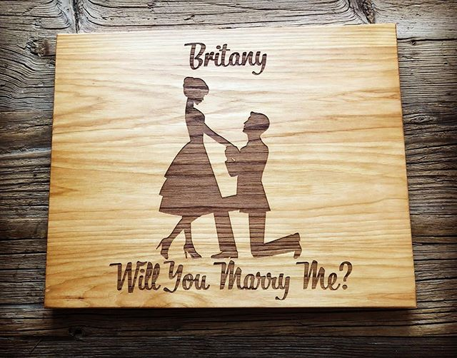 Happy Valentine's Day! #valentines #askhertomarryyou #uniqueproposal #engravedgifts #love #cuttingboard