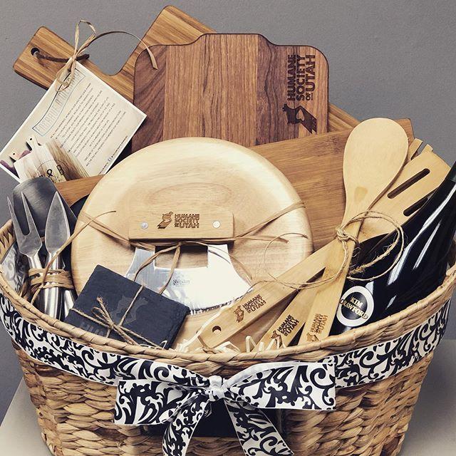 Creating gift baskets!  #giftbaskets #engraved #gift #giftideas #charitydonation