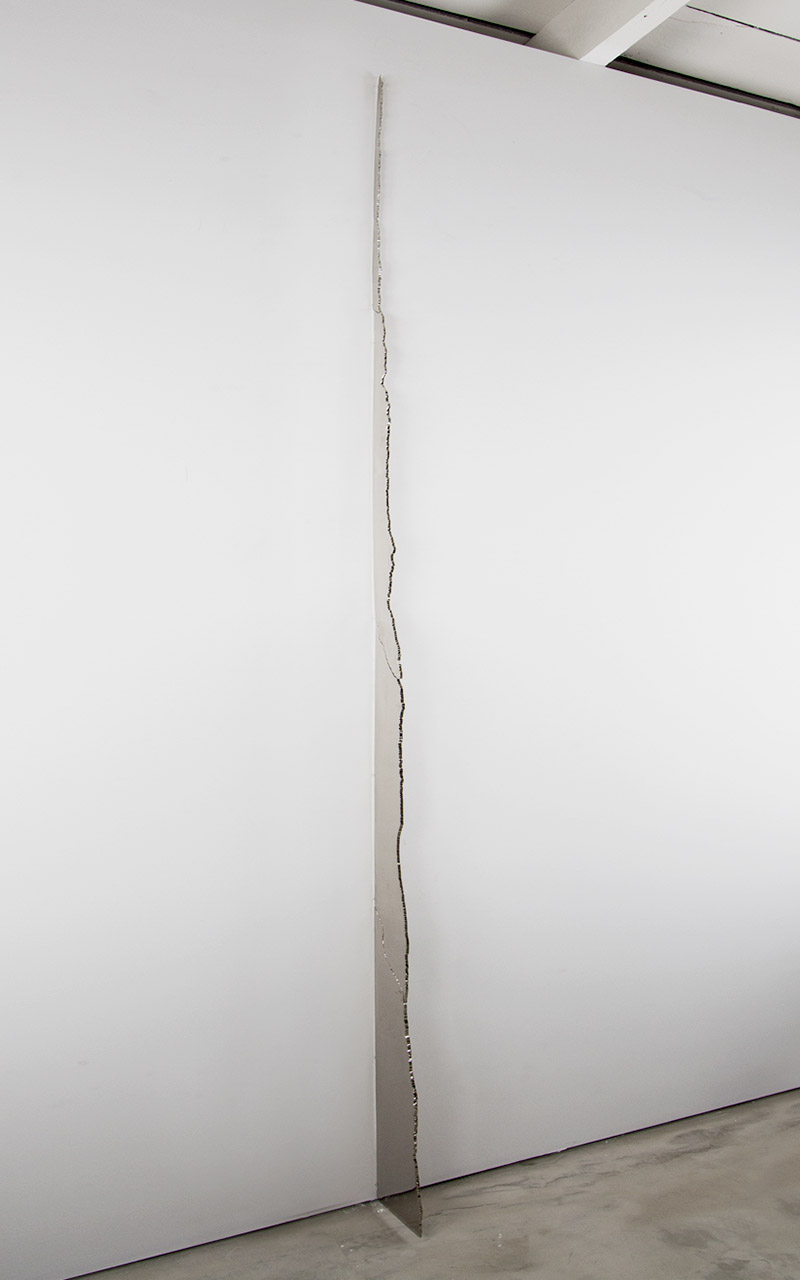 Seam from Band, Nickel plated, mirror polished steel, 119 X 8 inches, 2013