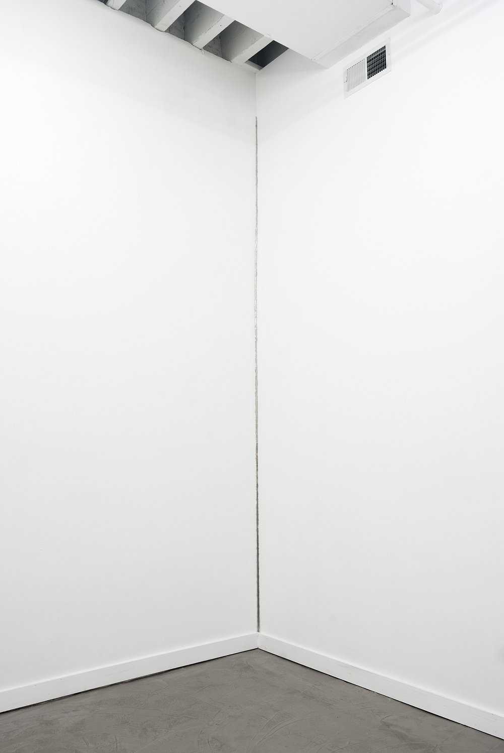 Corner, Nickel plated mirror polished steel, 110 X 3 inches, 2013