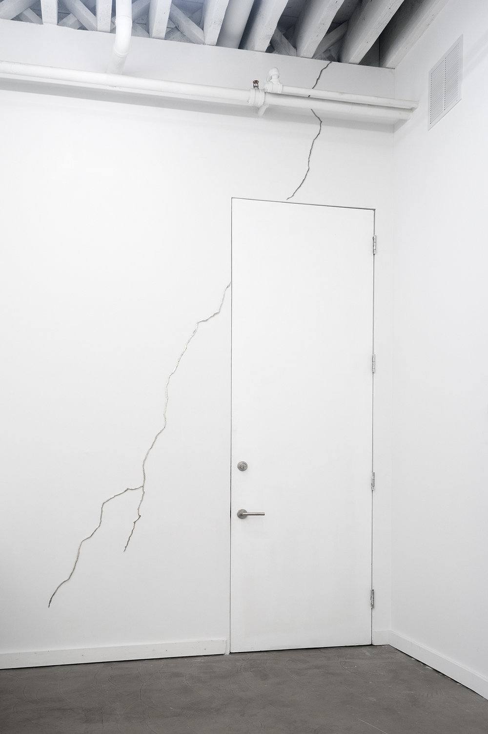 T-Rex,Nickel plated, mirror polished steel, 96 X 55 inches, 2013