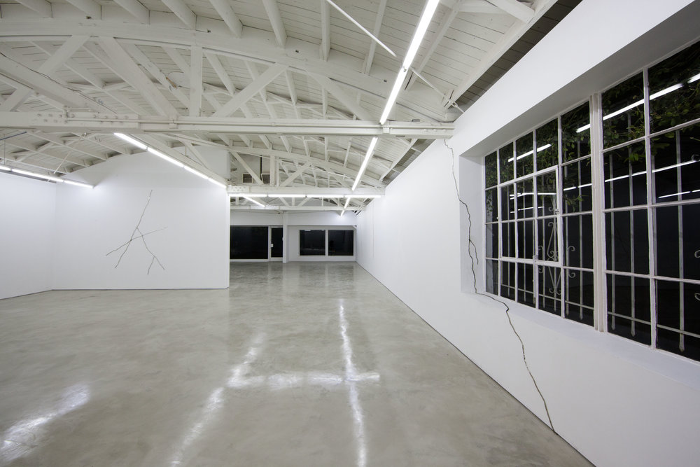 Lines and cracks and zebras and horses, Installation view, OHWOW, Los Angeles, CA. 2013