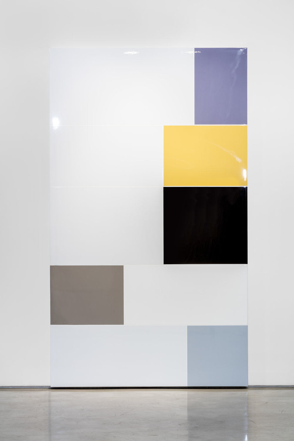 Heyoka (P.S. Transcriptions), Polished urethane on canvas, 96 X 56 inches, 2015