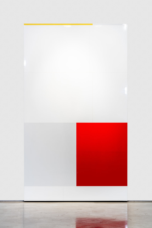 El. 16, Elation,(Feelings and Emotions Chart), Polished urethane on canvas, 96 X 56 inches, 2016
