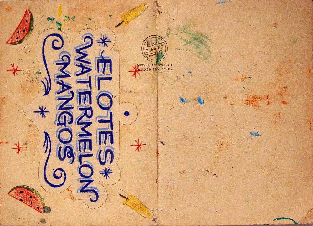 Lo que puedes pagar, Solicitation page, Colored pencil on vintage card stock, A4, 2006