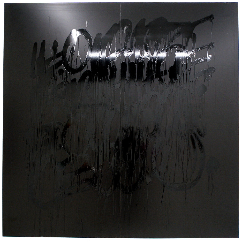 Release and let it go,Enamel on aluminum, 96 X 95 inches, 2009