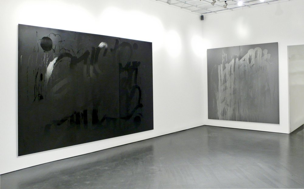 Decadence and Temptation, Enamel on aluminum composite, 144 X 96 inches and 96 X 96 inches, 2007