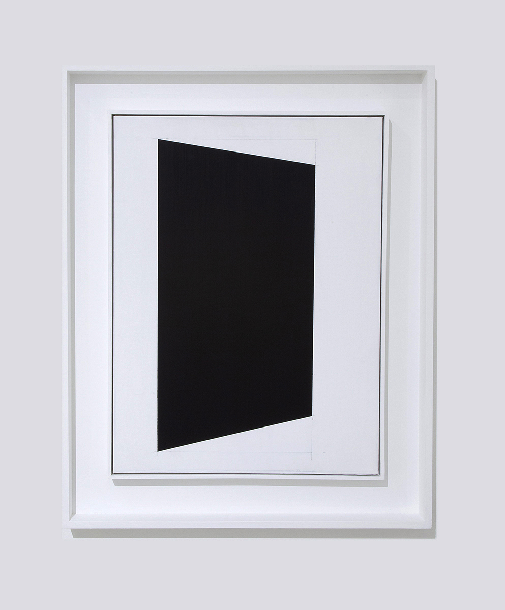 Lapse, Gesso on canvas in artist frame, 31.25 x 25 x 2.5 inches, 2018