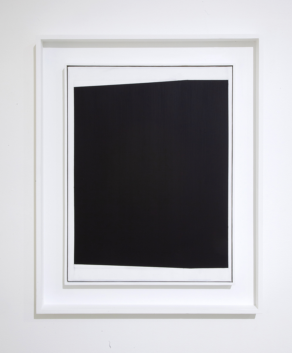 Elapse, Gesso on canvas in artist frame, 31.25 x 25 x 2.5 inches, 2018