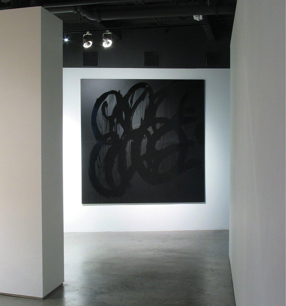 Gangdom, Enamel on aluminum, 98 X 98 inches, 2007