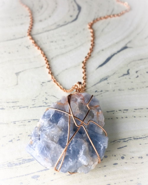 Not only is this one of the most beautiful and substantial   stones   I've wrapped, but the radiant energy and high vibes were apparent as soon as I held it in my hands!