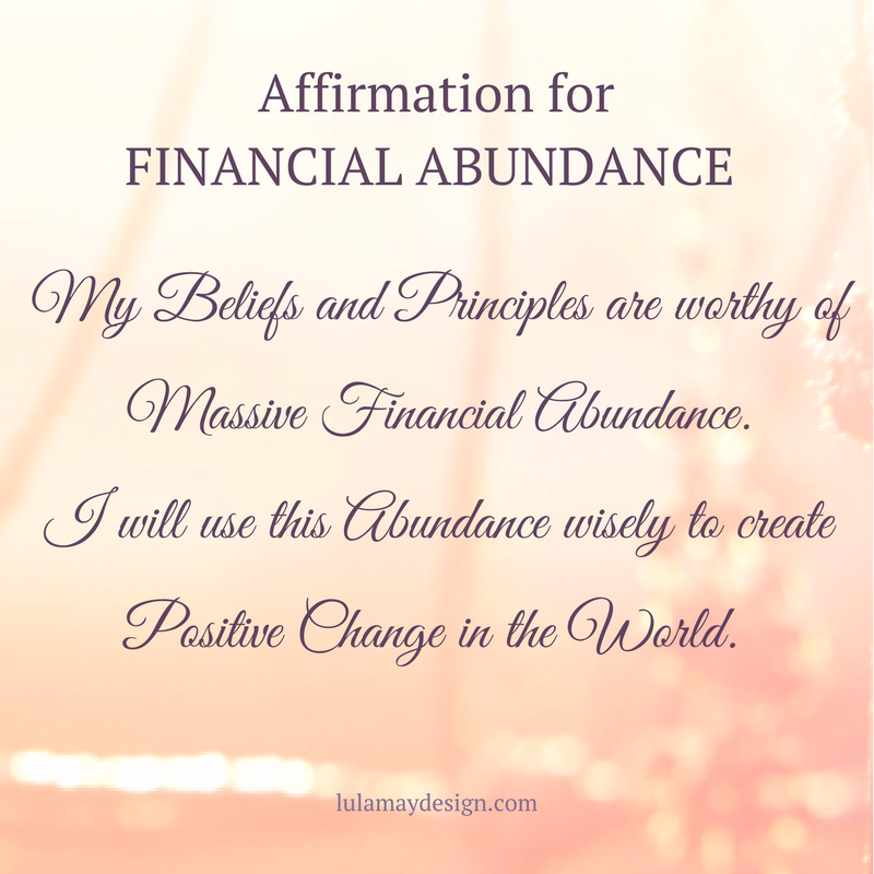 Affirmation for Financial Abundance