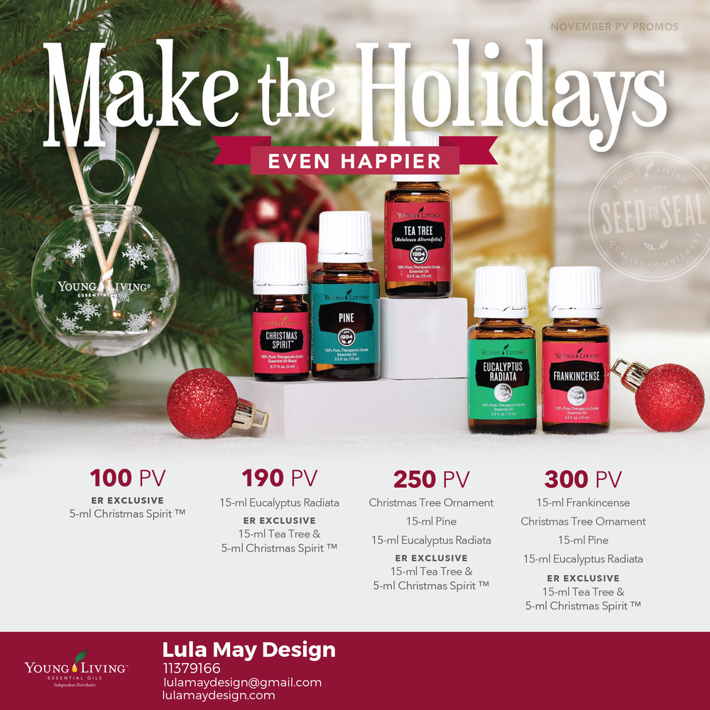 FREE oils with your Young Living ER Order! (November Edition) — Lula ...