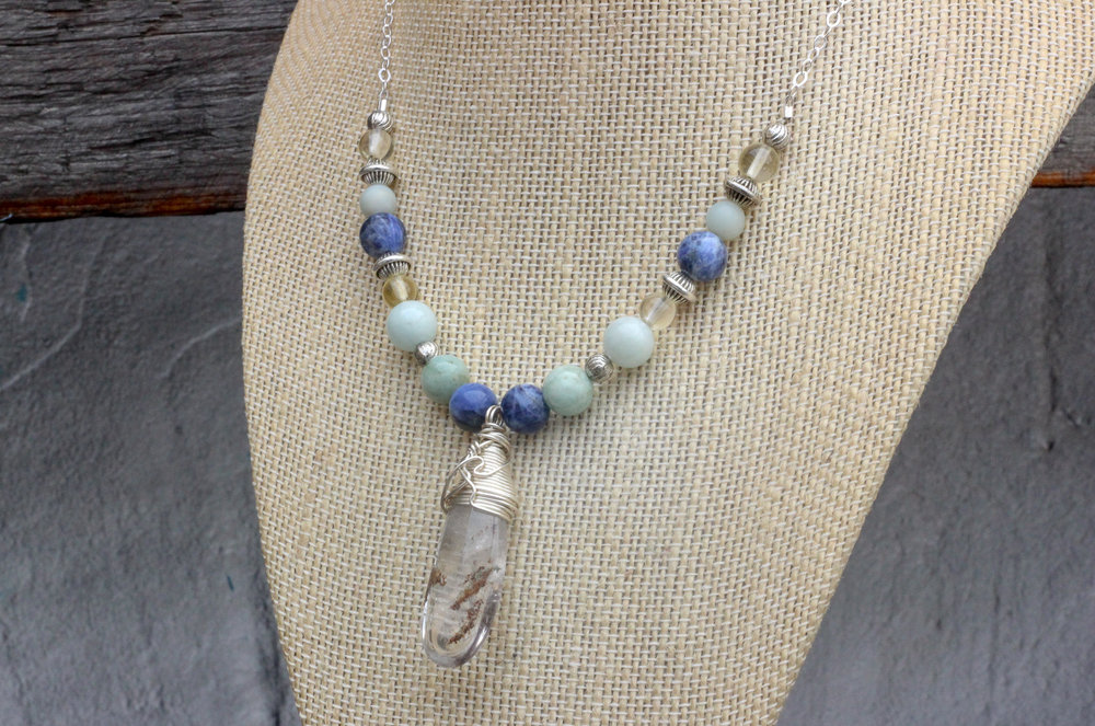 Lodolite Quartz Necklace